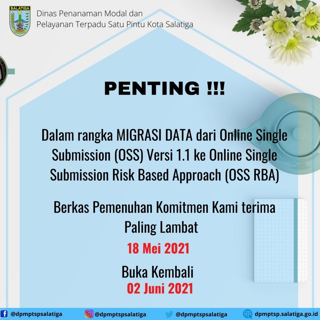 Migrasi Online Single Submission (OSS)